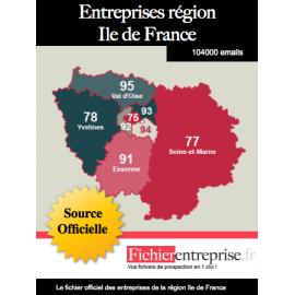 Fichier email Ile de France