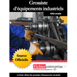 Fichier des grossistes d'équipements industriels