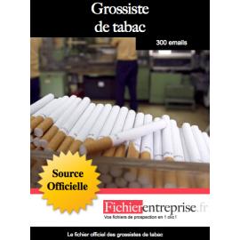 Fichier des grossistes de tabac