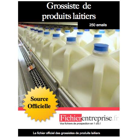 Fichier des grossistes de produits laitiers