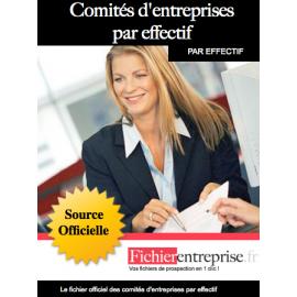 Fichier comités d'entreprise par effectif
