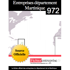 Fichier email 972 Martinique