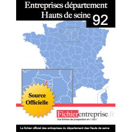 Fichier email 92 Hauts de Seine