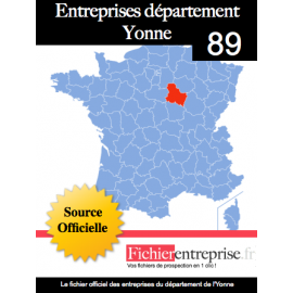 Fichier email 89 Yonne