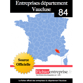 Fichier email 84 Vaucluse