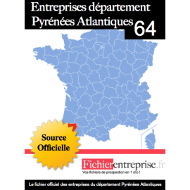 Fichier email 64 Pyrenées Atlantiques