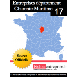Fichier email 17 Charente Maritime