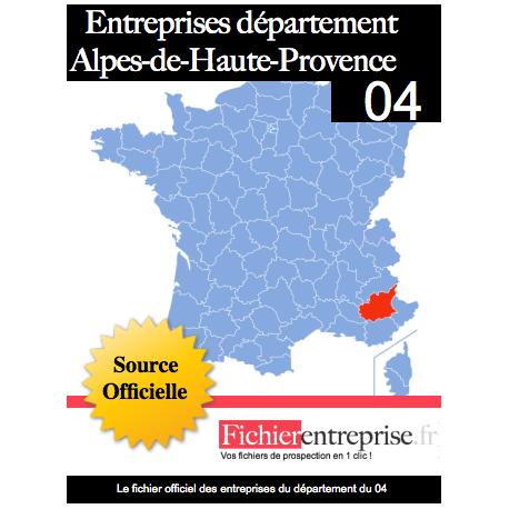 Fichier email 04 Alpes-de-Haute-Provence