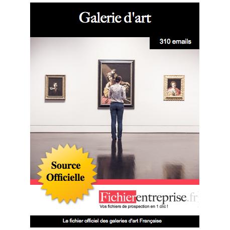 Fichier des galeries d'art