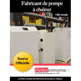 Fichier des fabricants de pompes à chaleurs
