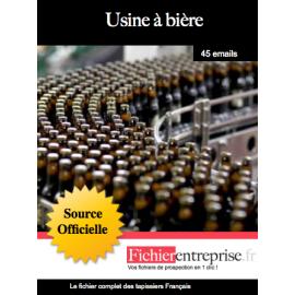 Fichier des usines à bières