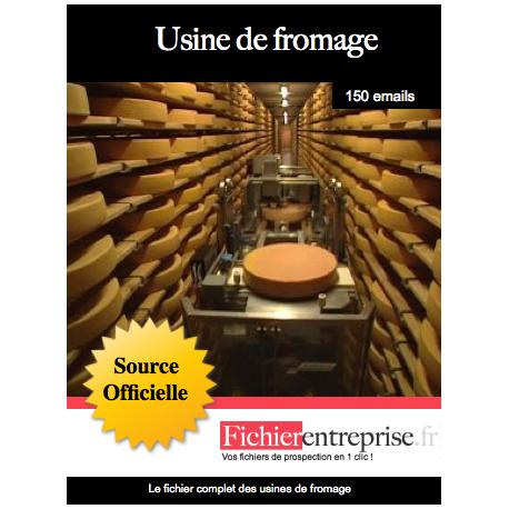 Fichier des usines de fromage