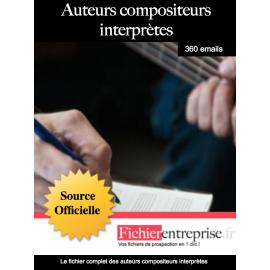 Fichier des auteurs compositeurs interprètes