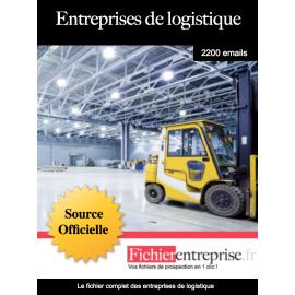Fichier des entreprises de logistique