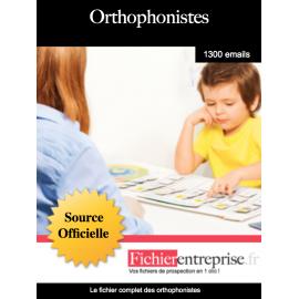 Fichier des orthophonistes