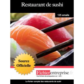 Fichier email restaurants de sushi
