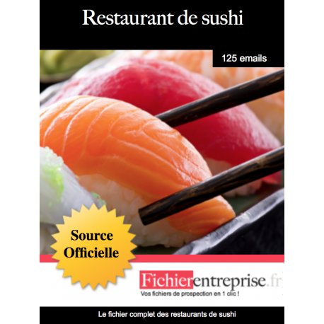Fichier des restaurants de sushi