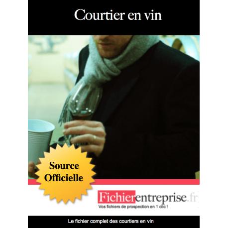 Fichier des courtiers en vin