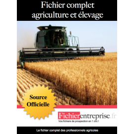 Fichier complet agriculture et élevage