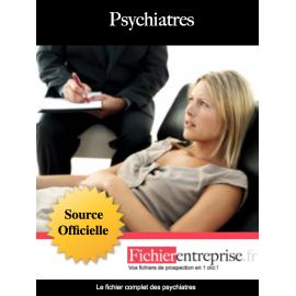 Fichier email des psychiatres