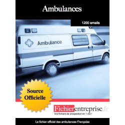 Fichier des ambulances