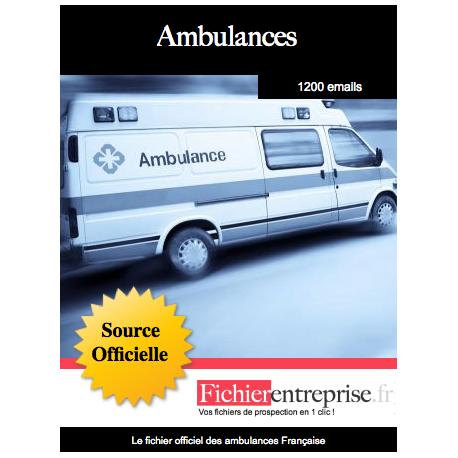Fichier des ambulances