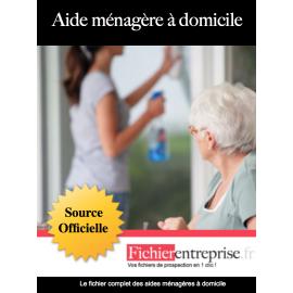 Fichier des aides ménagère à domicile
