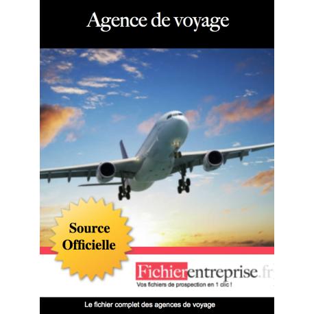 Fichier des agences de voyage