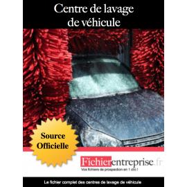 Fichier des centres de lavage de véhicules
