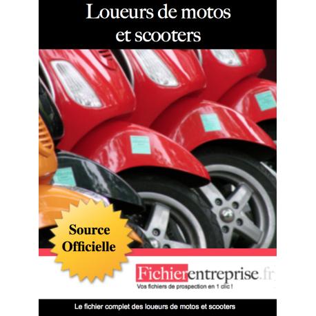 Fichier des loueurs de motos et scooters