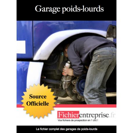 Fichier des garages de poids lourds