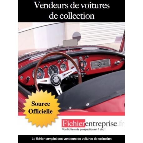 Fichier vendeurs de voitures de collection