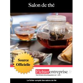 Fichier email des salons de thé