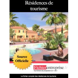 Fichier email résidences de tourisme