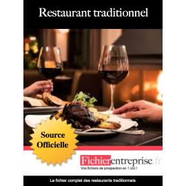 Fichier email des restaurants traditionnels