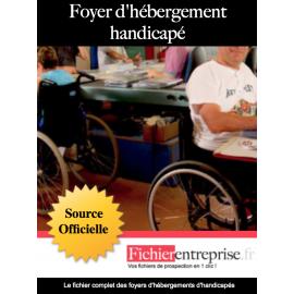 Fichier mail foyers d'hébergements handicapés