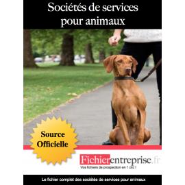 Fichier sociétés de services pour animaux