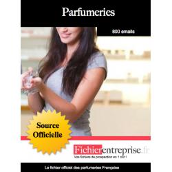 Fichier des parfumeries