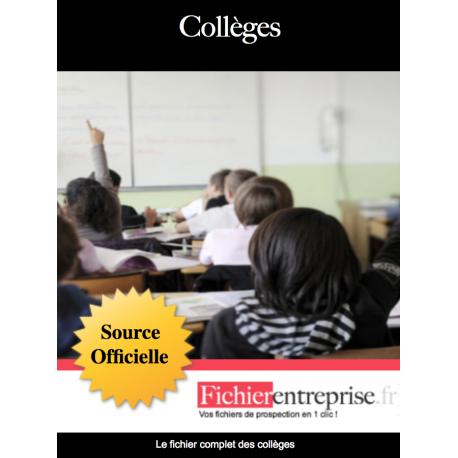 Fichier email des collèges