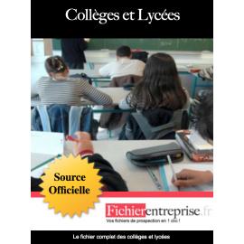 Fichier email des collèges et lycées