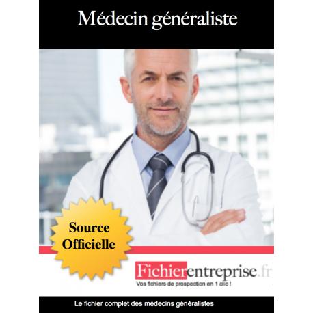 Fichier email des médecins généralistes