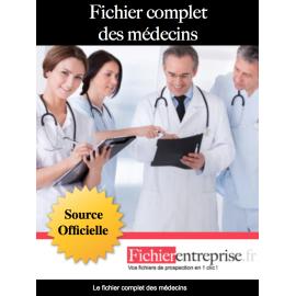 Fichier complet des médecins