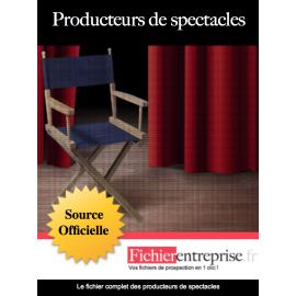 Fichier email producteurs de spectacles