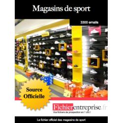 Fichier des magasins de sport