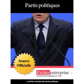 Fichier email des partis politiques