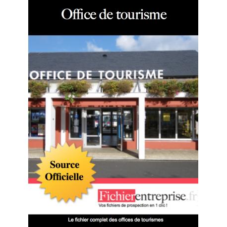 Fichier email des offices de tourisme