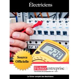 Fichier email des électriciens