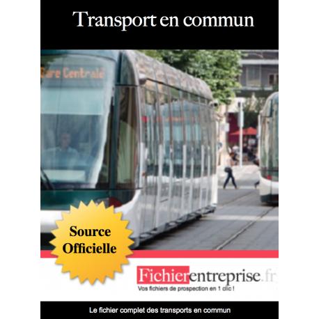 Fichier email des transports en commun
