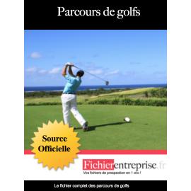 Fichier email des parcours de golfs