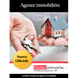 Fichier email agences immobilières